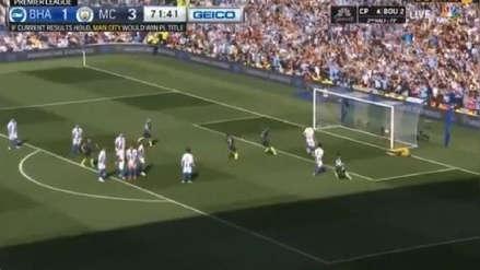 ¡Inatajable! El golazo de tiro libre Ilkay Gündogan ante Brighton que selló el triunfo del Manchester City