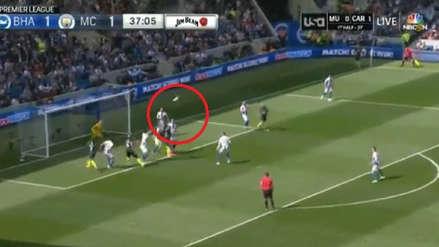 Manchester City: el potente gol de cabeza de Laporte que puede significar una Premier League