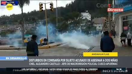 Apurímac: 14 policías fueron heridos tras enfrentamientos en Andahuaylas por niñas asesinadas