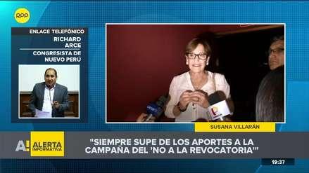Las reacciones de congresistas tras declaración de Susana Villarán sobre aportes de campaña