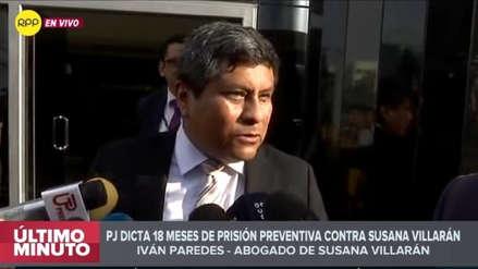 Abogado de Susana Villarán sobre prisión preventiva: Medida judicial es