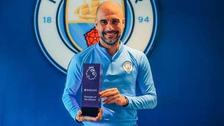 Le volvió a ganar a Klopp: Pep Guardiola fue elegido como el técnico del año de la Premier League
