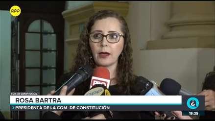Bartra: Nos hemos propuesto terminar debates sobre reformas políticas del Ejecutivo el 19 de junio