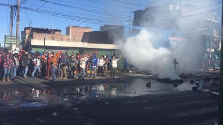 Protesta en Arequipa | Siete heridos por enfrenamientos entre obreros de construcción civil y la Policía en Paucarpata [Video]