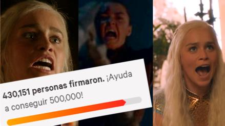 Game of Thrones | Casi un millón de fanáticos firman petición para rehacer la octava temporada