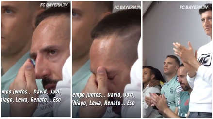 Bayern Munich: Franck Ribéry lloró en la despedida de Rafinha
