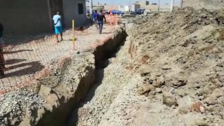 Lambayeque | Hallan restos óseos y huacos mochicas en una obra de agua y alcantarillado