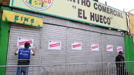 Municipalidad de Lima clausuró el centro comercial 'El Hueco'