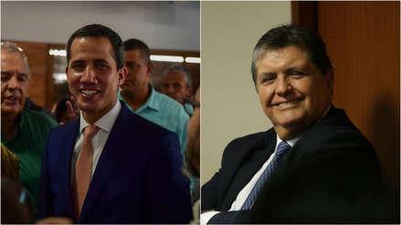 Juan Guaidó comparte fotografía con Alan García a un mes de la muerte del expresidente