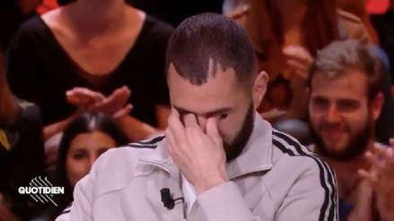 Karim Benzema no pudo contener las lágrimas al hablar de sus hijos