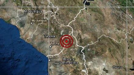 Sismo de magnitud 5.7 sacudió el sur de Tacna y parte de Chile