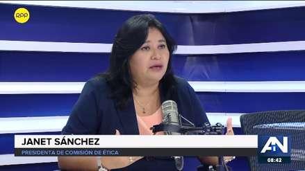 Janet Sánchez denuncia que hay interés en sacarla de la presidencia de la Comisión de Ética