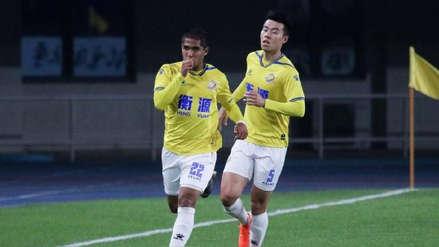 Roberto Siucho marcó su primer gol con el Shanghai Shenxin en el fútbol chino
