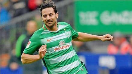 Claudio Pizarro anotó golazo y le dio el triunfo a Werder Bremen ante Leipzig