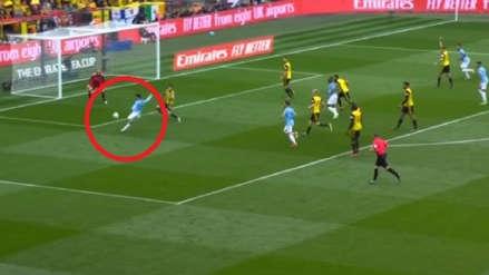 Manchester City: David Silva anotó golazo de zurda ante Watford en final de la Copa FA