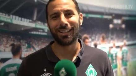 Claudio Pizarro recibió felicitaciones de sus seguidores tras renovar con Werder Bremen