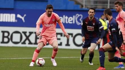Lionel Messi anotó un doblete con Barcelona y apunta a quedarse con la Bota de Oro