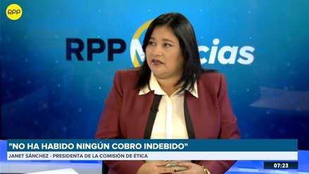 Presidenta de la Comisión de Ética dice que devolvió el bono que cobró para evitar