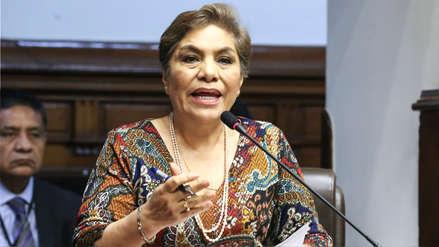 Luz Salgado anuncia proyecto para regular inmunidad parlamentaria