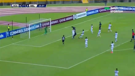 ¡Cabeceó solo! El gol con el que la Universidad Católica de Ecuador se puso en ventaja ante Melgar