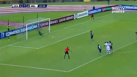 Por poco lo tapa Cáceda: el gol de penal con el que Universidad Católica se puso 3-0 arriba contra Melgar