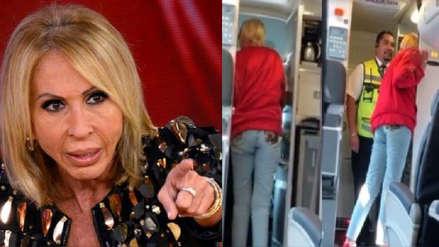 Laura Bozzo fue expulsada de avión tras negarse a que su maleta fuera llevada a bodega
