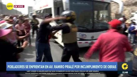 Policía desalojó a vecinos de Huarochirí que bloquearon la avenida Ramiro Prialé [VIDEO]