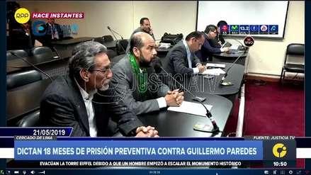 Poder Judicial dictó 18 meses de prisión preventiva para el hermano del exministro Carlos Paredes