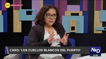 Fiscal Rocío Sánchez: Hay jueces, empresarios y políticos que tienen vinculación con 'Los cuellos blancos del puerto'