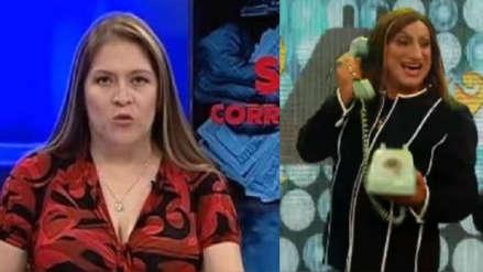 Carlos Álvarez parodia a la congresista Yeni Vilcatoma en su programa