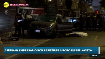 Frente a su pareja: delincuentes asesinaron a empresario que se resistió a ser asaltado en el Callao