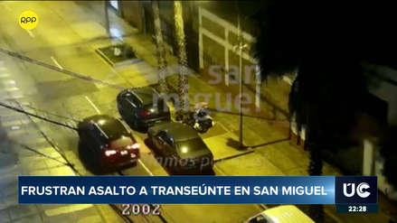 Serenazgo de San Miguel frustra robo a mano armada cerca de Municipalidad