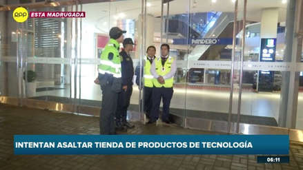 Delincuentes intentaron asaltar tres tiendas de una misma cadena durante la madrugada [VIDEO]