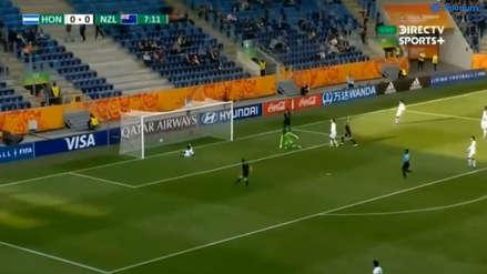 ¡Para qué te traje! El primer 'blooper' del Mundial Sub 20 ocurrió en el Nueva Zelanda vs. Honduras