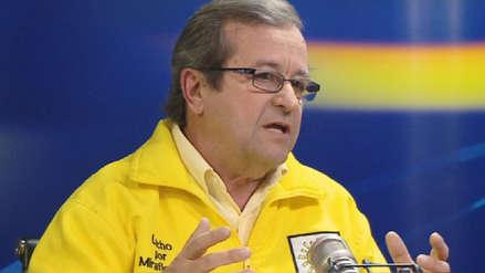 Alcalde de Miraflores presentó su renuncia al partido Solidaridad Nacional