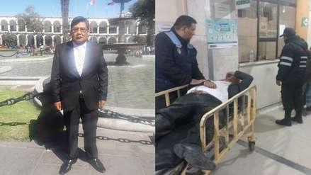 Poder Judicial   Juez de Madre de Dios es hallado inconsciente en una calle de Arequipa