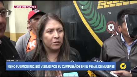 Congresistas visitaron a Keiko Fujimori en el penal por su cumpleaños