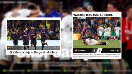 Barcelona perdió la Copa del Rey ante el Valencia: las portadas de la derrota azulgrana