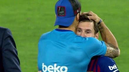 Como a un hermano: el consuelo de Suárez a Messi tras perder la final de la Copa del Rey