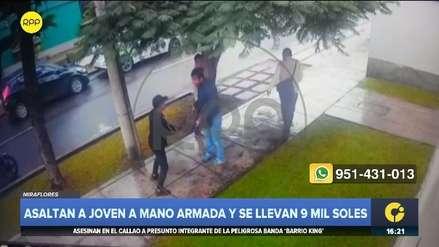 Miraflores: asaltan a joven en plena calle y le quitan 9 mil soles que acababa de retirar de banco