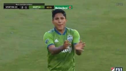 ¡Sigue anotando! El gol de Raúl Ruidíaz en la derrota de Seattle Sounders ante Sporting Kansas City
