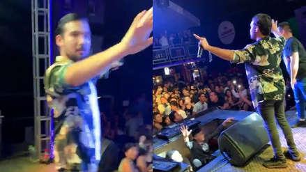 Ezio Oliva fue sorprendido por el sismo cuando ofrecía un concierto en Rioja [VIDEO]