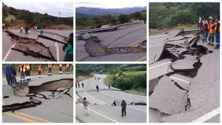 Así quedó la carretera Cajamarca-Cajabamba tras terremoto en la selva [FOTOS]