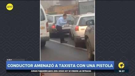 SMP: Conductor apuntó con una pistola a taxista en la Panamericana Norte