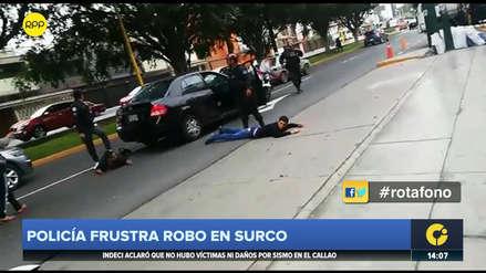 Policía Nacional frustró un asalto en Santiago de Surco y capturó a dos delincuentes