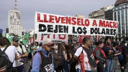 Sindicatos argentinos inician dos días de movilizaciones contra la política económica de Mauricio Macri
