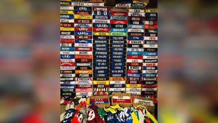 La impresionante colección de camisetas del DT de Inter de Milán