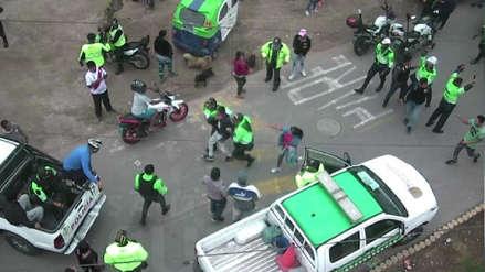 Policía y Serenazgo de Surco capturan a tres ladrones tras balacera y ataque a patrullero
