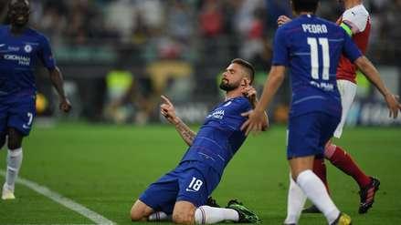 ¡Cabezazo!: Olivier Giroud colocó el 1-0 en favor de Chelsea por la final de la Europa League