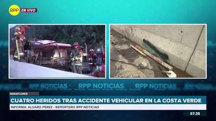Cuatro heridos en accidente de tránsito en la Costa Verde